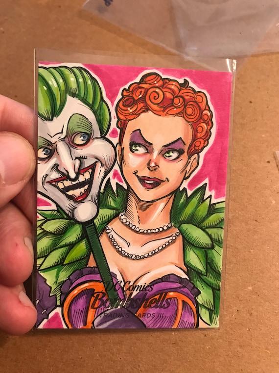 Official Sketch Card: DC Bombshells, Joker's Daughter