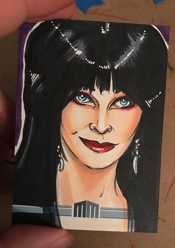 Sketch Card: Elvira, Mistress of the Dark