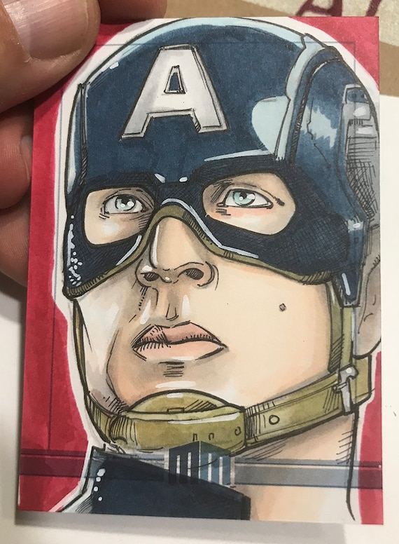 Sketch Card: Captain America