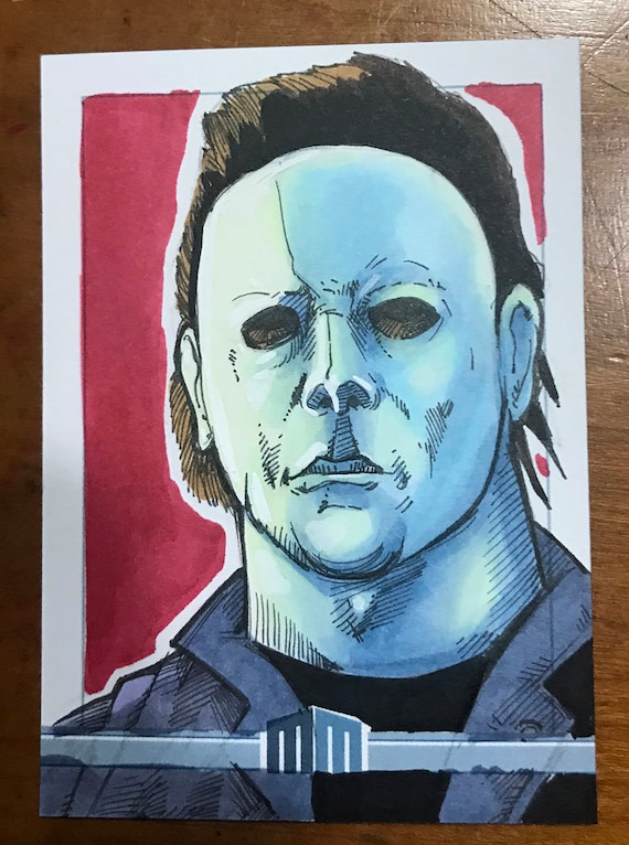 Sketch Card: Michael Myers