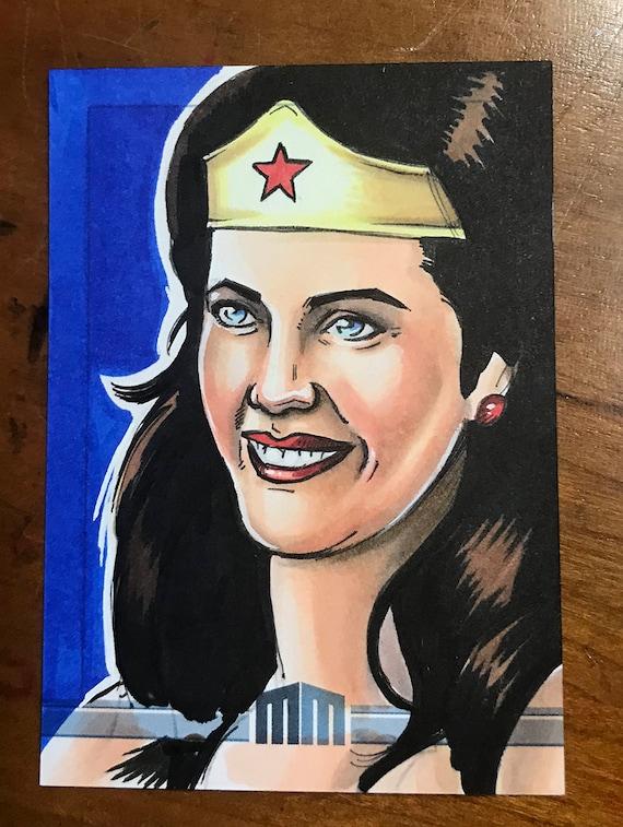 Sketch Card: Lynda Carter Wonder Woman