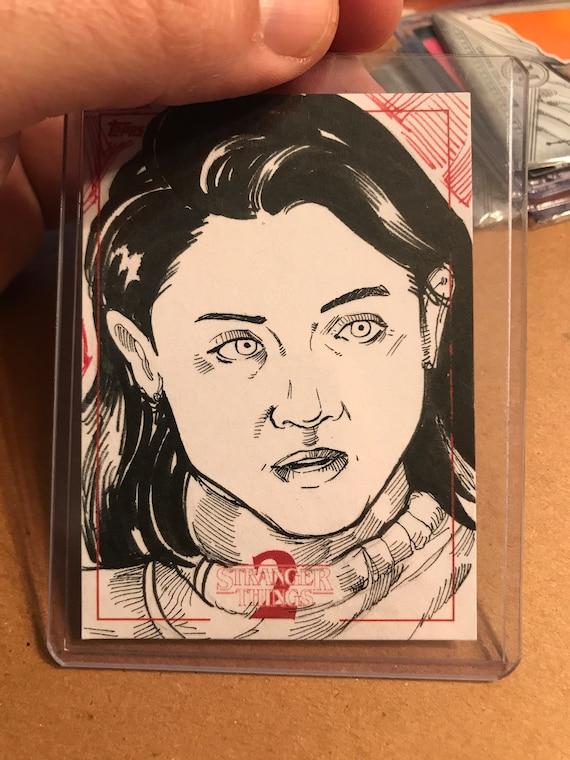 Topps Stranger Things Season 2 Sketch Card: Nancy Wheeler