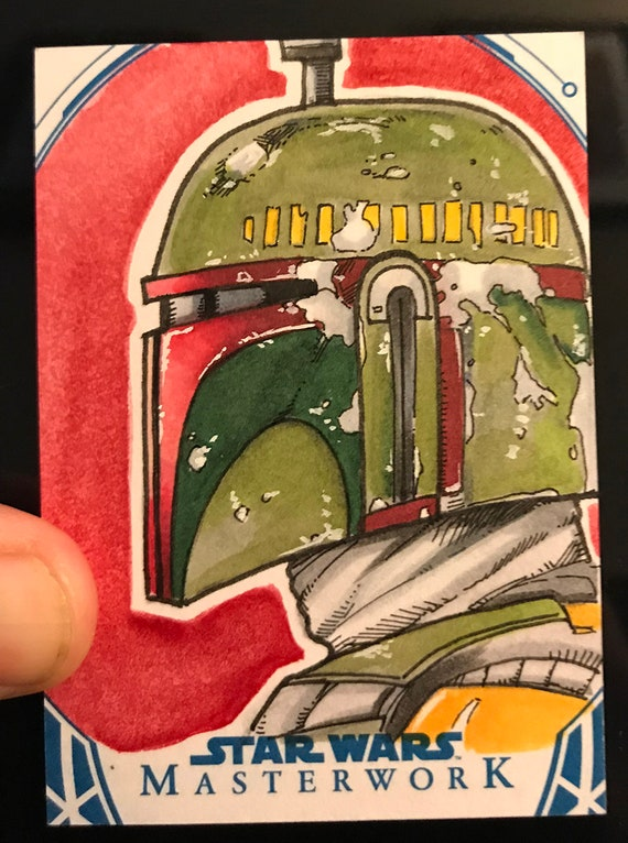 Star Wars Masterwork 2018 Artist Return Sketch Card- Boba Fett
