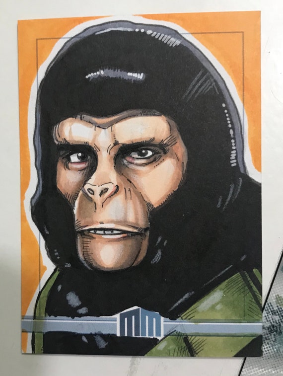Sketch Card: Cornelius from Planet of the Apes