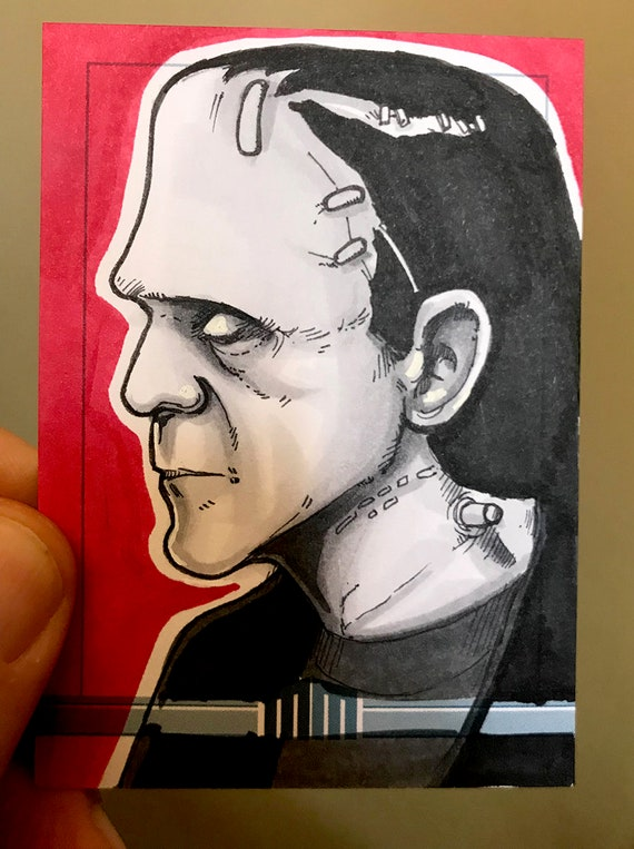 Universal Monsters Frankenstein Sketch Card
