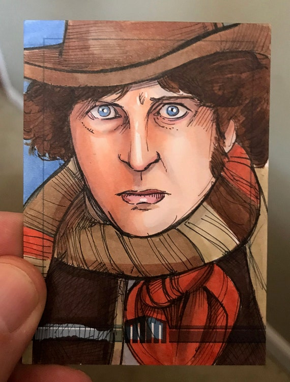 Sketch Card: Tom Baker Dr. Who