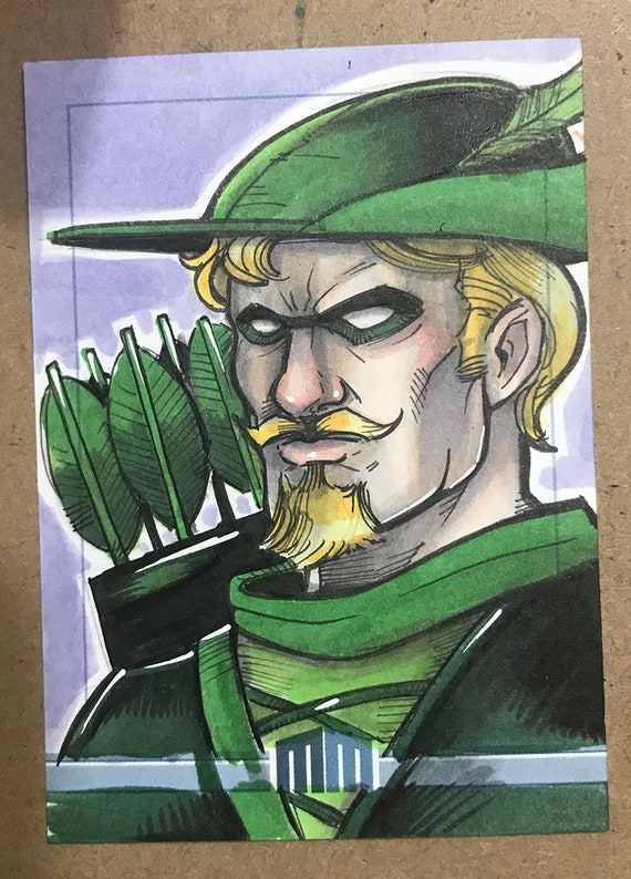 Sketch Card: Green Arrow