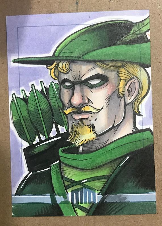 Sketch Card: Green Arrow