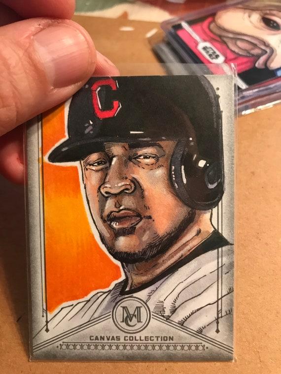Topps Sketch Card: Edwin Encarnacion 2019 MLB Museum Collection