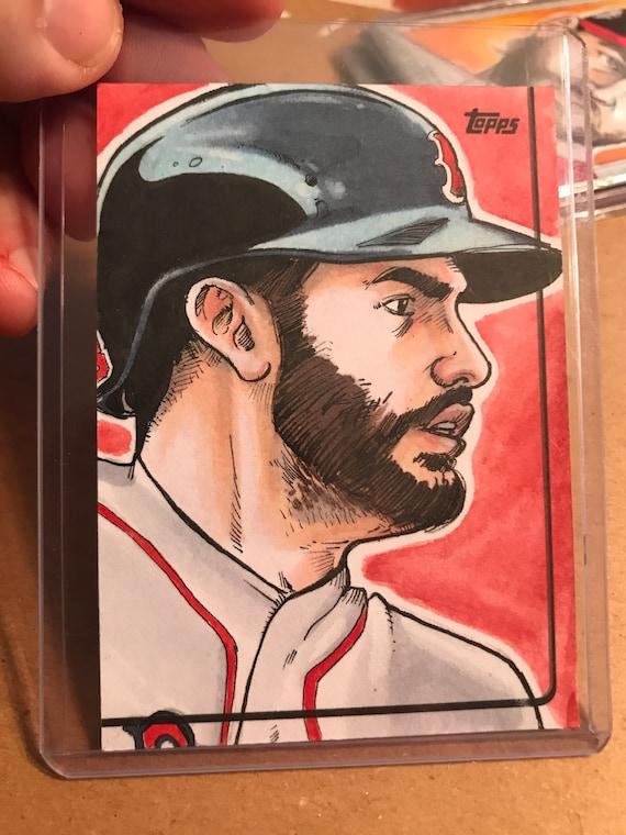 Topps Sketch Card: JD Martinez 2019 MLB card