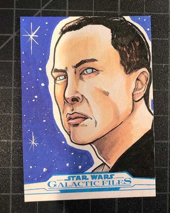 Star Wars Galactic Files Artist Return Sketch Card- Chirrut Imwe