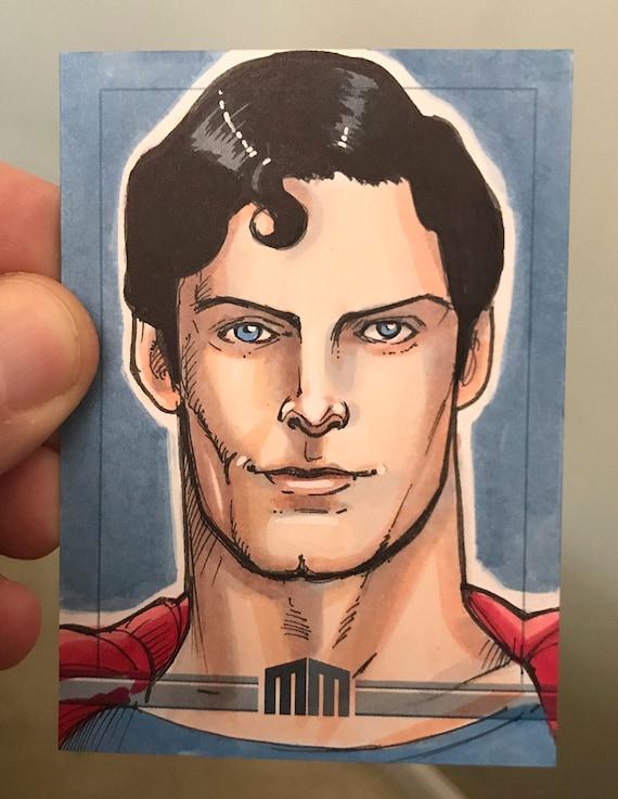 Sketch Card: Christopher Reeve Superman