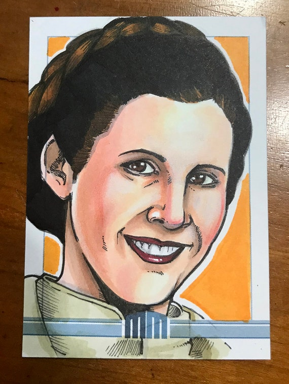 Sketch Card: Princess Leia