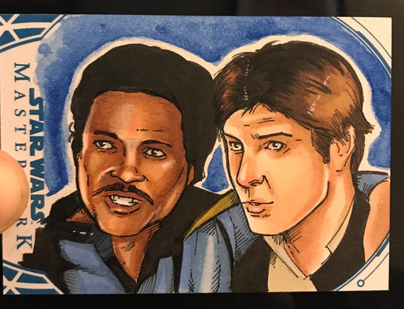 Star Wars Masterwork 2018 Artist Return Sketch Card- Han and Lando
