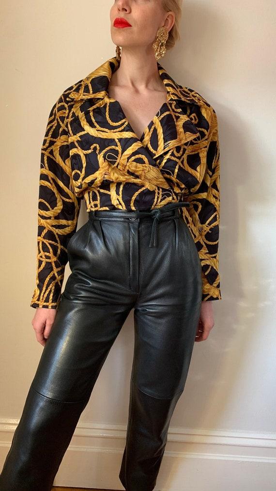VINTAGE Designer-Luxury 80s 90s Midnight Blue Bla… - image 1