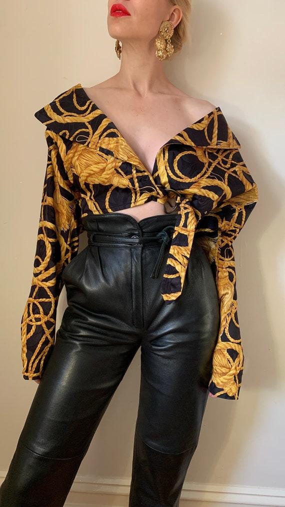 VINTAGE Designer-Luxury 80s 90s Midnight Blue Bla… - image 5