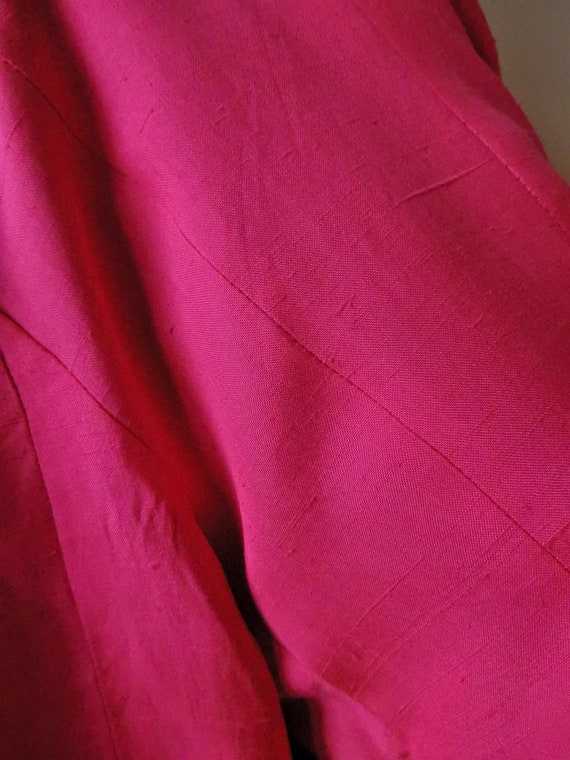 VINTAGE Chanel-Style 90s Hot-Pink 100% Pure Raw S… - image 3
