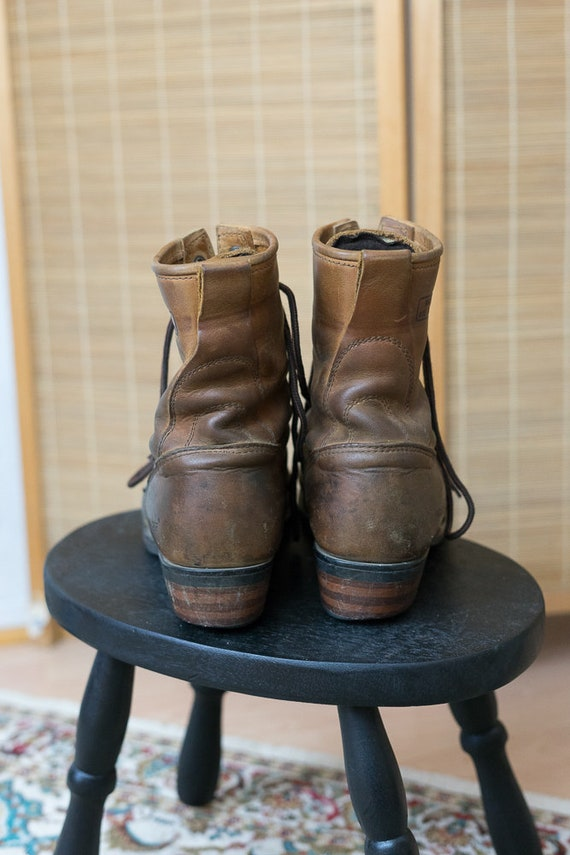 1980's Brown Brown Leather Boots Roper 1980's E1xq18war