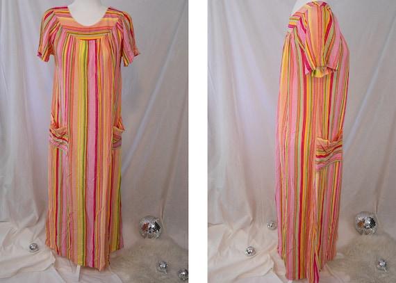 1970s Rainbow Mumu