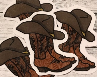 82886da023eed Cowboy Boot Mini Sticker