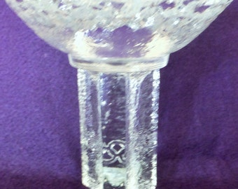 Orrefors Crystal Sweden 1984 Olympic Torch Candle holder, Sticker