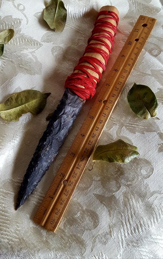 Oak and agate athame