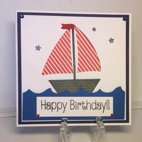 sailboat birthday card etsy