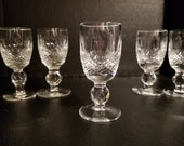 Vintage Waterford Crystal Cordial Stemware ( Colleen Pattern ) Retired (sold separately) made in Ireland