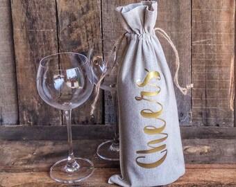Linen Wine Bag The Best Wine Is The...
