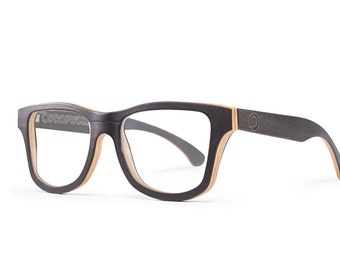 d6a7bf095a Black Prescription Wooden Glasses