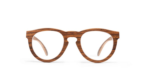 Wooden Reading Eyeglasses Handmade Wood Eyewear RX Wooden | Etsy