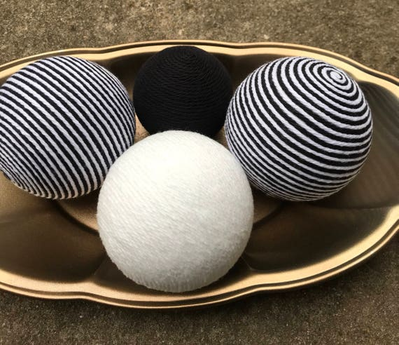 Decorative Yarn Balls Black White And Black And White Striped Decorative Balls Deco Balls Vase Fillers Decorative Bowl Filler Balls