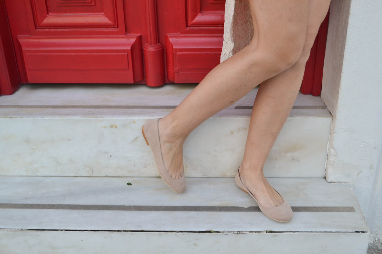 christmas gift desert sand nude suede leather ballet flats ballerinas ballerina's ballerina pumps ballerina flats ballerina