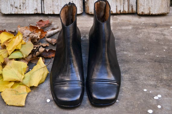 Handmade Boots Ankle Boots Black Booties Heeled Booties NEW Cecilia Leather Boots Winter Shoes Black Boots High Heeled Booties