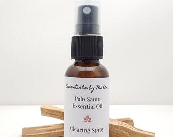 Palo Santo Essential Oil Clearing Spray - Aura Clearing - Smudge Spray - Aromatherapy - Sacred Wood Spray - Reiki Infused - Smudge Spray