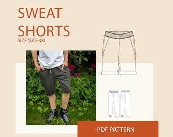 Mens shorts PDF sewing patterns| men's digital pdf shorts pattern| mens digital shorts PDF pattern for sewing| PDF sewing pattern tutorial