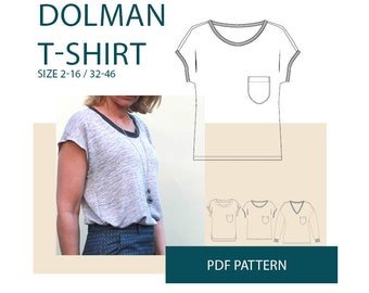 T shirt sewing pattern for women|Womens t-shirt PDF sewing pattern|ltee shirt pdf sewing pattern|womens pdf tshirt pattern for sewing