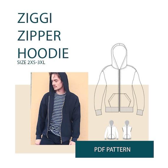 hoodie sewing patternMens hoodie pattern PDFzipper jacket | Etsy