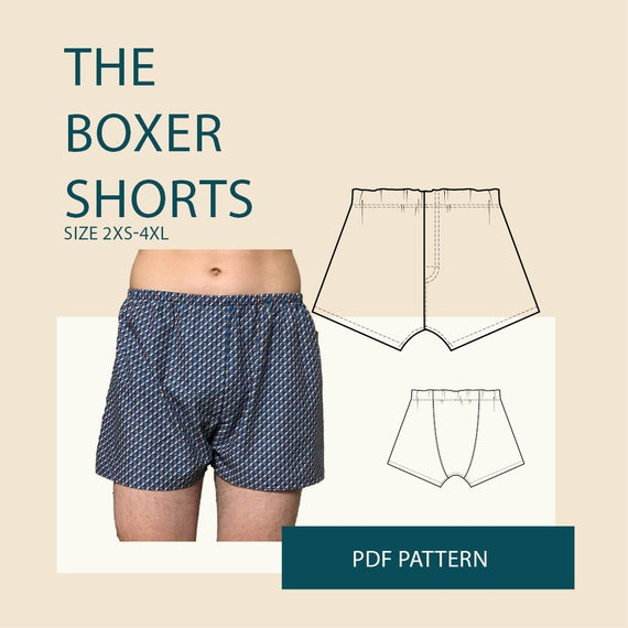 boxer briefs for men sewing pattern pdf DIY clothing boxer | Etsy