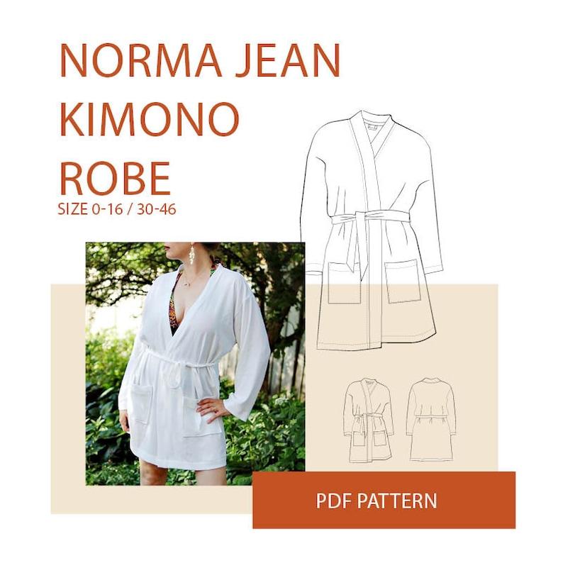 8e27fbba3 Kimono robe pattern pdf beach cover up pattern women DIY