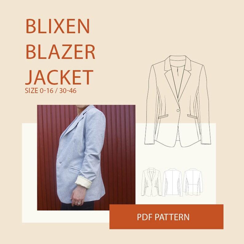 bd1be1dd74ff38 Womens blazer jacket PDF sewing pattern sewing patterns