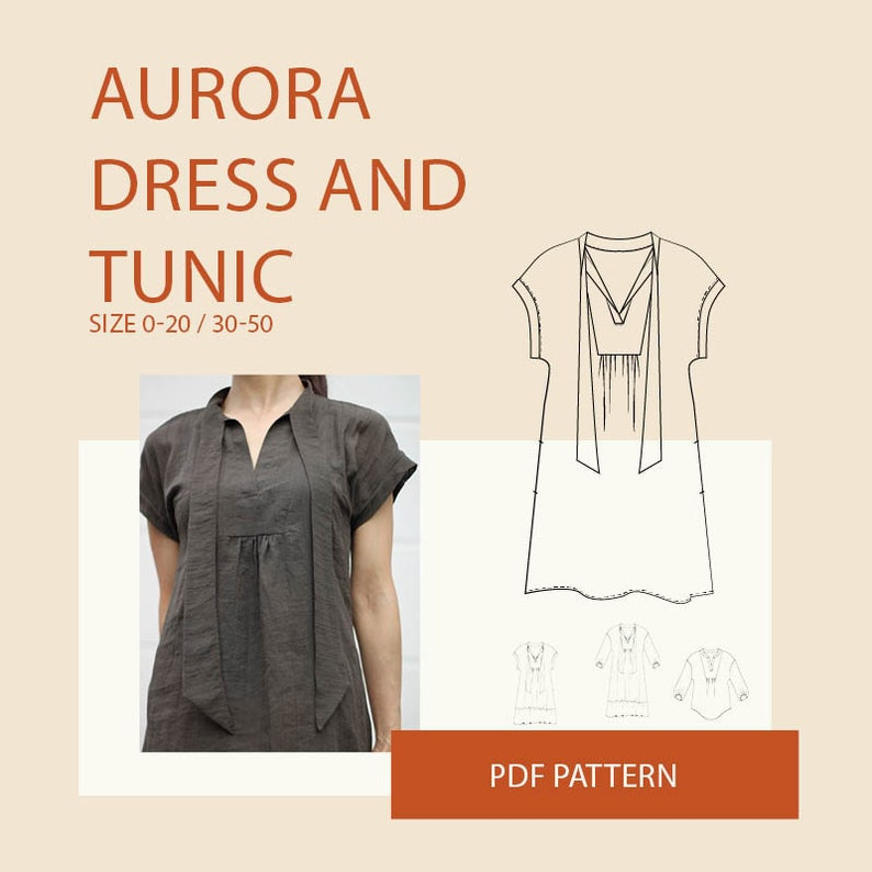 boho tunic sewing patterns for women, DIY clothing,women tunic tops pattern  pdf, plus size clothing patterns Boho tunic PDF pattern women