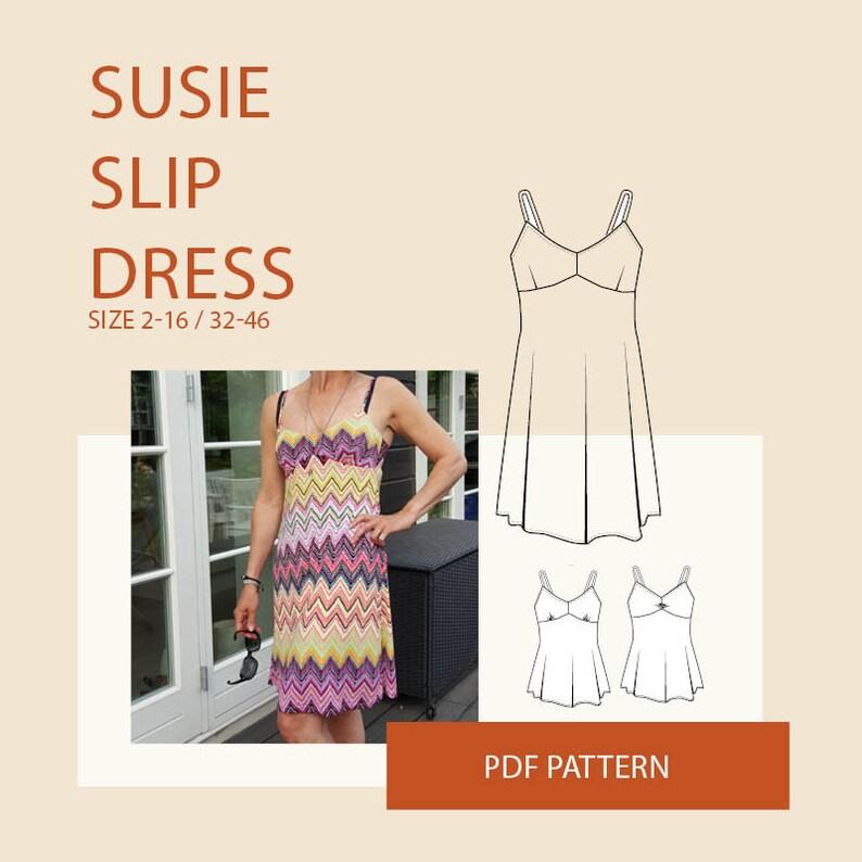 71b13cf36463 Cami strap top pattern PDF digital sewing pattern womens slip | Etsy