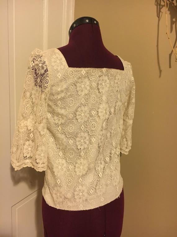 Lace Cream Blouse - image 1
