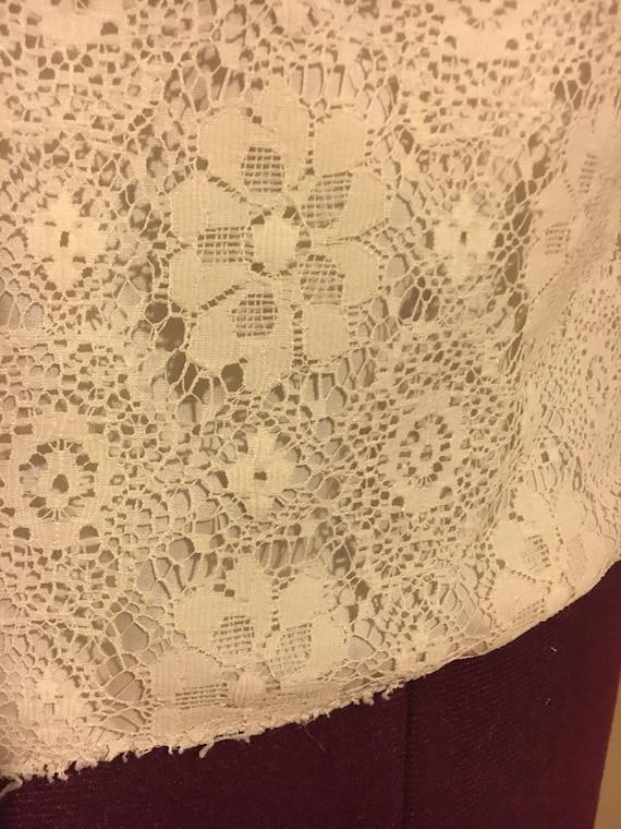 Lace Cream Blouse - image 3