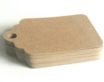 Blank kraft card brown hang tags, price tags, item labels, gift tags, tags for products, wedding tags