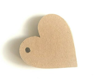 Blank kraft card brown heart tags, price tags, item labels, gift tags, tags for products, wedding tags