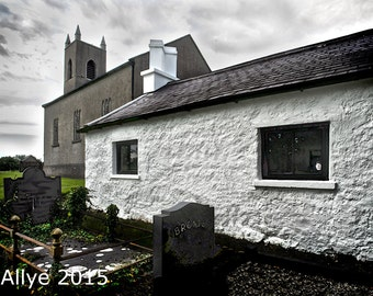 Bronte School House and Church, Ireland. Bronte Homeland of Wuthering Heights Fame  - Allyephotography