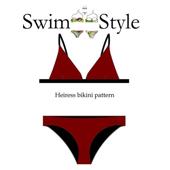 Heiress Women s bikini sewing pattern | Etsy