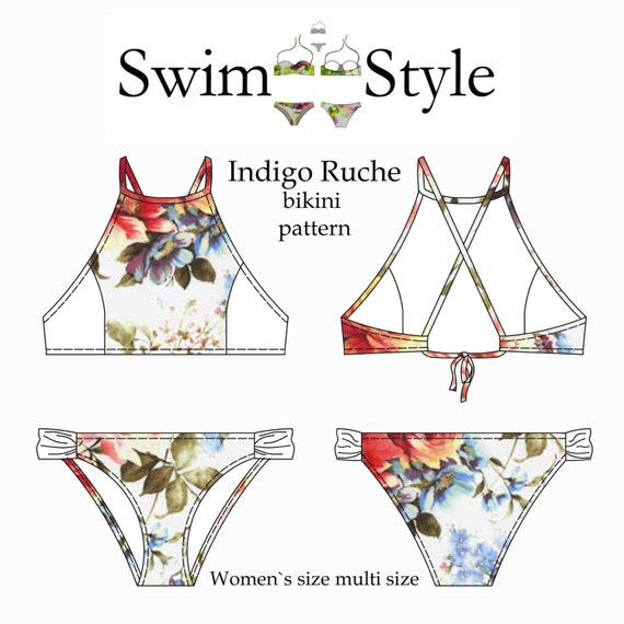 Indigo Ruche Women s Bikini pdf sewing pattern | Etsy